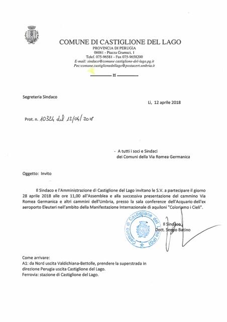 ASSEMBLEA VIA ROMEA GERMANICA     LAGO TRASIMENO