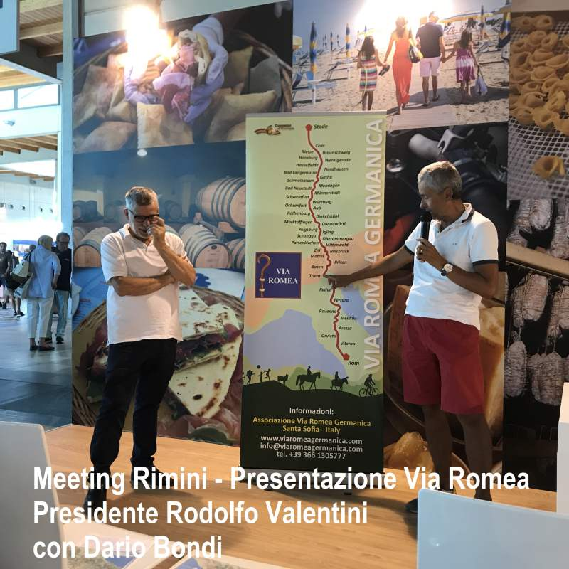 AL MEETING DI RIMINI 2017 LA VIA ROMEA GERMANICA - Viaromeagermanica